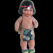 """Wonderful 2 3/4"""" Hertwig Indian Boy"""