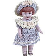 "RARE! 2 3/4"" BABY PEGGY All Bisque Doll By Louis Amberg"