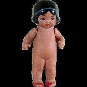 """2 3/4"""" Hertwig Googly Hawaiian Girl ~ All Bisque Doll"""
