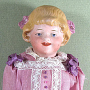 """REDUCED 6 1/2"""" Charming Smiling Goebel Character Child~ Bisque Head Doll"""