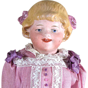 "6 1/2"" Charming Smiling Goebel Character Child~ Bisque Head Doll"