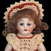 """7"""" Hertel Schwab Marked 208/6 ~ """"Prize Baby"""" ~ All Bisque Doll Sleep Eyes"""