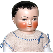 """REDUCED Magnificent 16"""" Frozen Charlie by Goebel ~ A Lovely China Boy with Fabulous Cloth"""