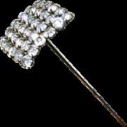 """Antique Hat Pin Large Paste Rhinestone 10"""" Long"""