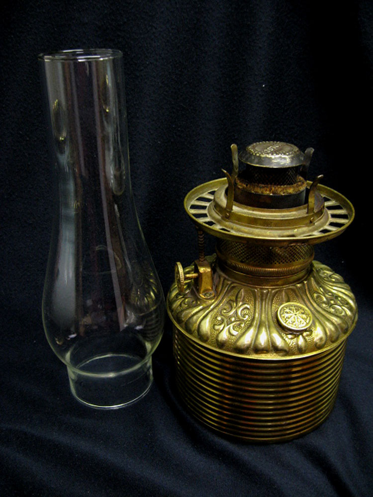 Victorian Fostoria Gone With The Wind Oil Lamp From