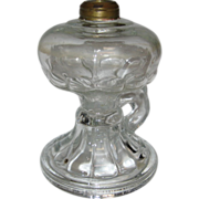 SOLD Footed Finger Oil Lamp in Loop Pattern - c1900