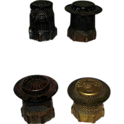 SOLD Four Old Rayo Oil Lamp Flame Spreaders - Each Different