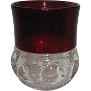 REDUCED Early Ruby Thumbprint - Kings Crown Tumbler