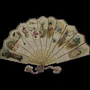 Lovely 1893 Ernest Nister/Dutton Fan Calendar