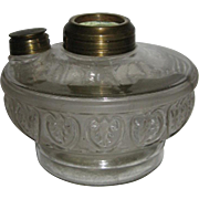 Petite Frosted Hearts Oil Lamp Font
