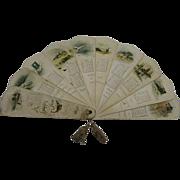 SALE Small 1893 Ernest Nister Fan Calendar