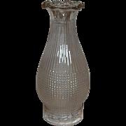 1896 Waffle pattern X-RAY Oil Lamp No. 2 Chimney