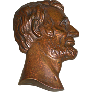 Abraham Lincoln Bronze Hanging Plaque