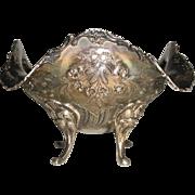 Ornate Silver Bowl Antique Hand Made