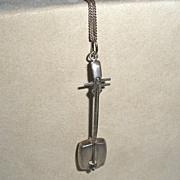 Japanese Samisen pendant Sterling Musical Instrument