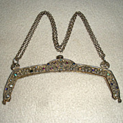 Silver Jewelled Purse Frame 19th century