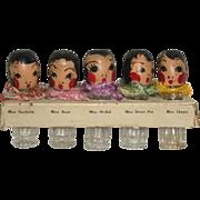 Novelty Perfume Bottles Figural Quintuplets