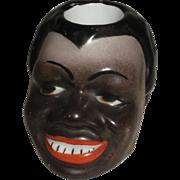 Porcelain Match Holder Black Man Figural  19th Century