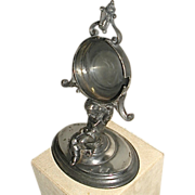 SOLD Figural Watch Holder Stand Silver Plated Victorian