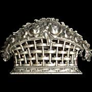 Silver Napkin Holder Flower Basket 800 S.
