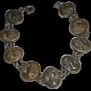 Lava Cameo Bracelet 19th Century Victorian