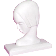 Lenox Porcelain Art Deco Figure of Lady's head Modernist