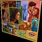 Illustrator Art George Angelini Mystery book cover 1990