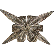 4 Silver Filigree Menu place card Holders, set of 4
