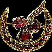 Victorian Bohemian Garnet Brooch