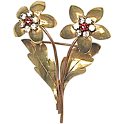 French Floral Motif Brooch