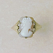 REDUCED Victorian Cameo Ring 9K Gold