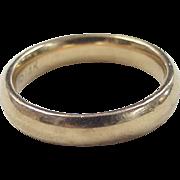 REDUCED Vintage 14k Gold Comfort Fit Wedding Band
