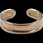 REDUCED Vintage 14k Rose Gold Toe Ring