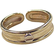 REDUCED Vintage 14k Gold Two-Tone Toe Ring