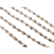 """REDUCED Vintage 10k Gold Marquise Rope Chain ~ 22"""" ~ 12.4 Grams"""