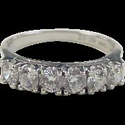 REDUCED Vintage 14k White Gold Faux Diamond Band