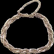 REDUCED Vintage 14k Gold Braided Serpentine Bracelet