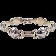 REDUCED Vintage 14k Gold Two-Tone Greek Bracelet