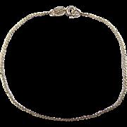 """SALE Vintage 14k Gold Serpentine Bracelet 6 3/4"""" ~ 0.9 Grams"""