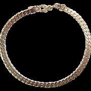 """SALE Vintage 14k Gold Tight Curb Link Bracelet 7"""" ~ 5.9 Grams"""