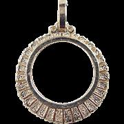 SALE Vintage 14k Gold Coin Bezel Pendant