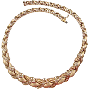 "SALE Vintage 18k Gold Graduated Necklace 18"" ~ 38.2 Grams"