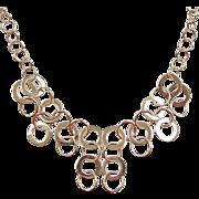 "SALE Vintage 14k Gold Circle Necklace ~ 17 5/8"" ~ 26.4 Grams"