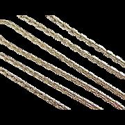"SALE Vintage 14k Gold Cable Chain ~ 21"" ~ 11.4 Grams"