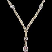 "SALE Vintage 14k Gold Two-Tone Necklace ~ 17"""