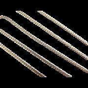 """SALE Vintage 14k Gold Serpentine Chain ~19"""" ~ 4.2 Grams"""