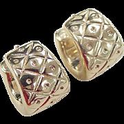 SALE Vintage 14k Gold Hoop Earrings