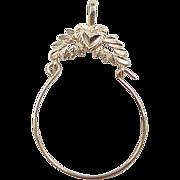 SALE Vintage 14k Gold Heart Charm Holder Pendant