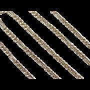 "SALE Vintage 14k Gold Figaro Link Chain ~ 19"" ~ 4.3 Grams"