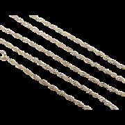 """SALE Vintage 14k Gold Singapore Chain ~ 16"""" ~ 1.1 Grams"""